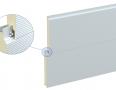 Стінові сендвіч-панелі ARPANEL SU PUR - прихована система кріплення